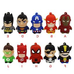 KING SARAS usb2.0 Superman Batman Spiderman Captain America