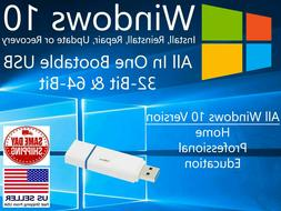 Windows 10 USB Flash Drive Install Recovery Repair 64bit Hom