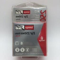 Iomega Zip Disks 250MB  8 Pack New In Package