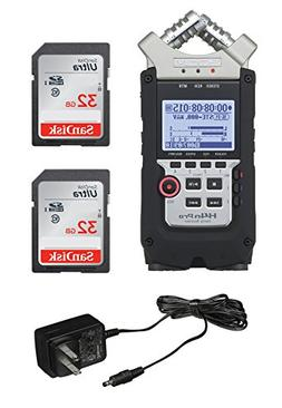 Zoom H4N PRO Digital Multitrack Recorder  + Zoom AD-14A/D Po